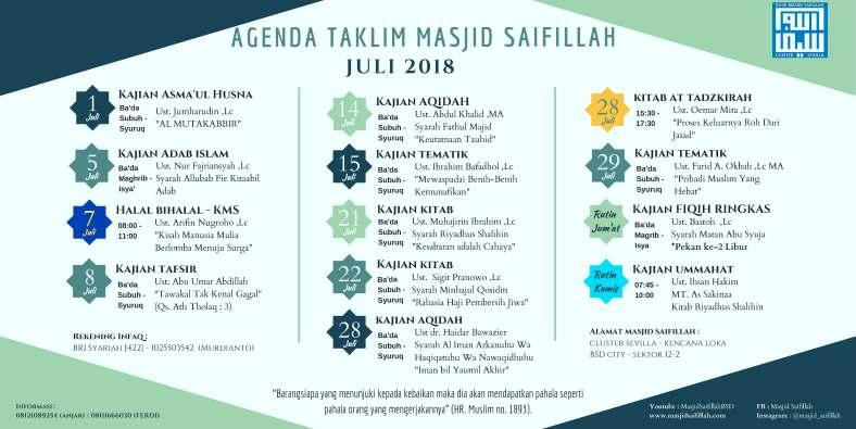 Agenda Taklim Juli 2018 - Landscape